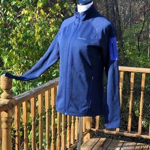 Marmot Stretch Fleece Blue Front Zipper Jacket